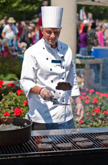 Happy outdoor chef