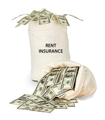Bag with rent insurance