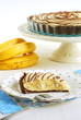 Pyszne kruche ciasto z kremem bananowym
