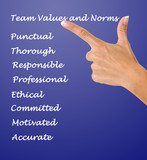 team values and norms poster