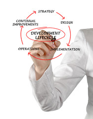 Diagram of development lifecycle