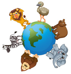 various animals on earth