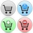 Shopping Cart Icons Matte Button Set. EPS10.