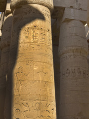 Temple of Karnak on the west Bank of the River Nile Egypt