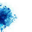 Abstract Background With Blue Blob