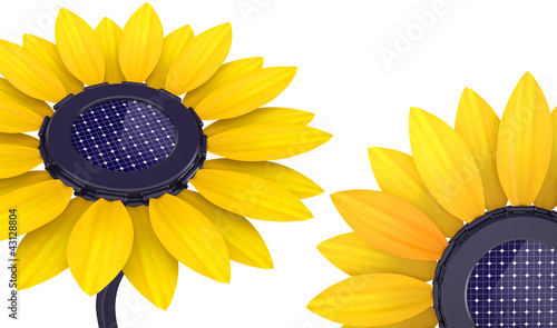 3d solar cell sunflower
