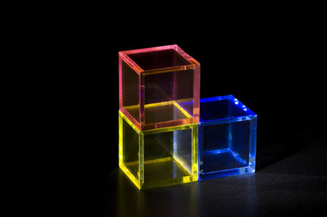 三色の立方体