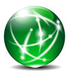 Green Sphere, Ball, with Communication lines