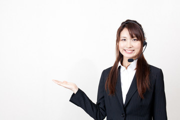 asian busineswoman with headset