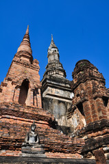 Ruined Old Buddha and Temple at Sukhothai, Thailand