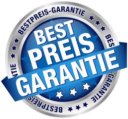 """Button Banner """"Bestpreis-Garantie"""" blau/silber"""