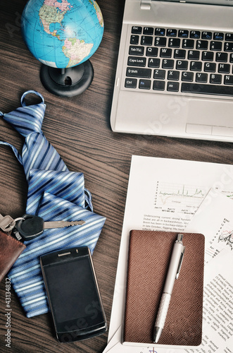 Office desk  in still life concept