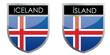 Iceland flag emblem