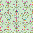 Multicolored ornamental seamless pattern