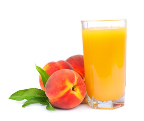 peaches juice and sweet peaches