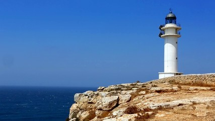 Barbaria cape Formentera lighthouse  with mediterranean