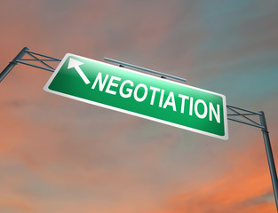 Negotiation concept.