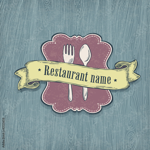 Restaurant design template. Vector, EPS10.