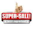 Super-Sale! Button, Icon