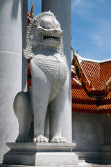 lion sculpture, Bangkok, Thailand