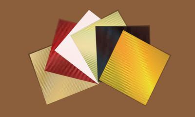 colored napkins arranged like a fan