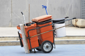 street cleaner cart