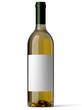 Bouteille de vin blanc sur fond blanc 2