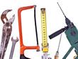 Kollektion verschiedener Werkzeuge