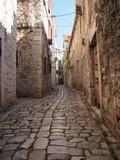 Fototapety Beauty old narrow alley in UNESCO town, Trogir