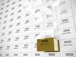 Hängeakten Schrank Schublade Gold fliegende Papiere