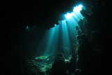 Sunlight in Underwater Cave poster