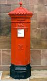 British Victorian Hexagonal Royal Mail Postbox. poster