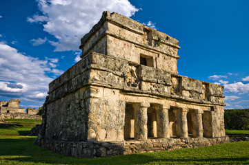 temple of frescoes, tulum, mexico