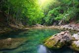 Fototapety River deep in mountain