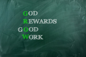 God Reward Good  Work