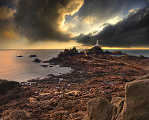 La Corbiere lighthouse on Jersey, England, UK
