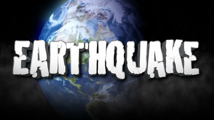 Earthquake Title 3D