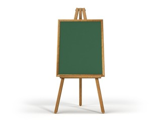 wooden easel chalk bord