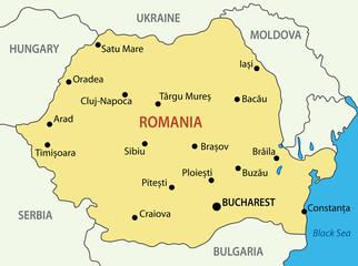 Romania - vector map