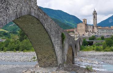 Hunchback Bridge. Bobbio. Emilia-Romagna. Italy.
