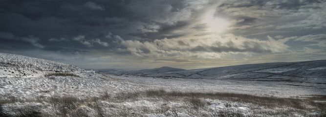 Winter Moorland panorama
