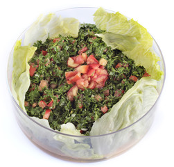 Lebanese salad - tabouleh (isolated)