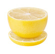 Lemon in the form of a tea cup