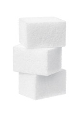 sugar on a white background
