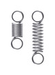 Springs. Stretched and compressed springs on a white background.