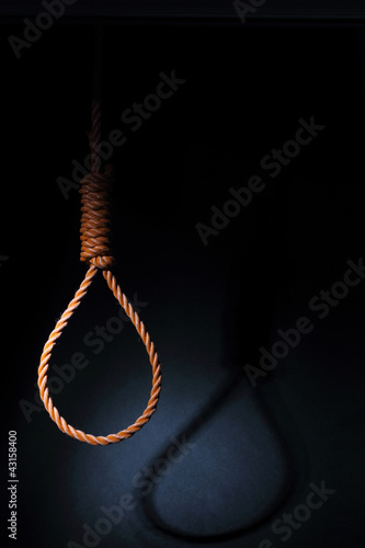 Gallows isolated on white background