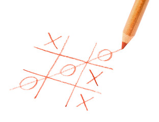 Tic tac toe game. Symbol luck, success, victory
