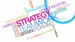 Strategy corporate teamwork success word tag cloud video
