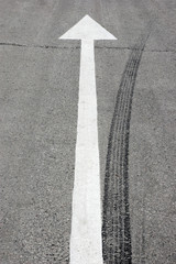 Road markings. Abstract background.
