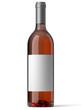 Bouteille de vin rosé sur fond blanc 1